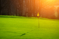 Golf course in the countryside Stock Images