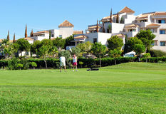 Golf course, couple of golfers, Andalusia, Spain Stock Image