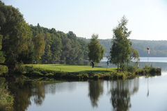 Golf course - Czech Republic royalty free stock photos