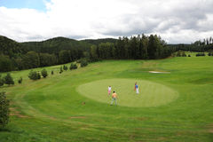 Golf course - Czech Republic royalty free stock image