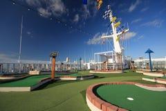 Golf course on deck Stock Photos