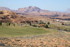 USA, Arizona/Page: Golf Course in a Desert Stock Images
