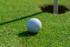 Golf course detail. With the ball Stock Image