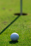Golf course detail. With the ball in front Stock Photos