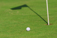 Golf course detail. With the ball in front Royalty Free Stock Photography