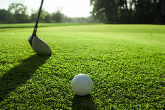 Golf course detail Royalty Free Stock Images