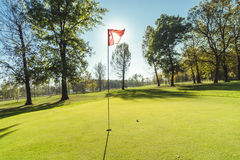 Golf course detail Royalty Free Stock Photo
