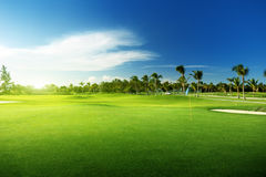 Golf course. In Dominican republic Stock Images