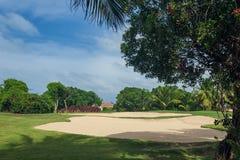 Golf course in Dominican republic. field of grass Stock Photos