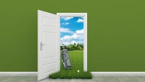 Golf course with door Stock Photos