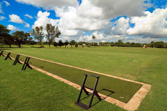 Golf Course Driving Range. Landscape view of a golf course driving/practice range stock images
