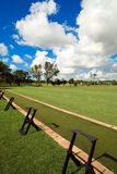 Golf Course Driving Range. Portrait view of a golf course driving/practice range royalty free stock photo
