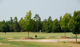 Golf course driving range Stock Photos