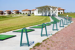 Golf course driving range. Learning Royalty Free Stock Image