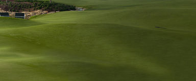 Golf Course in Dubai, Part 3. The Jumeirah golf course which hosted the final leg of Golf World Championship. This image is large panorama with three parts, this Royalty Free Stock Images
