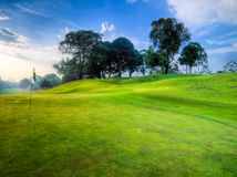 Golf Course Early in the Morning Royalty Free Stock Photos