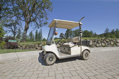 Golf Course Electric Maintenance Cart Royalty Free Stock Photos