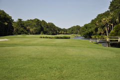 Golf course fairway Royalty Free Stock Photography
