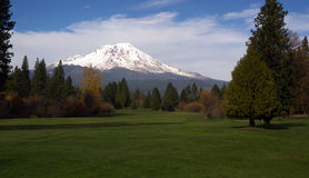 Golf Course Fairway Mount Shasta California Cascade Range Royalty Free Stock Photography