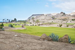 Golf course fairway at tropical resort Stock Photos