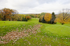 Golf course at fall Stock Photo