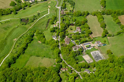 Golf Course and Farmland, aerial view, Surrey Royalty Free Stock Image