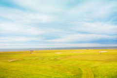 Golf course in the fields Stock Photography