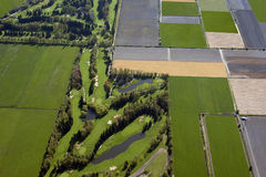 Golf Course and fields Stock Photo
