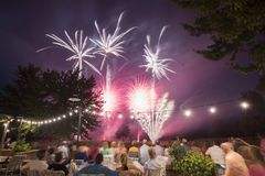 Golf Course Fireworks Display Royalty Free Stock Photos
