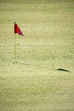 Golf course with flag Stock Image