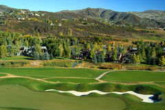 Golf course in foothills Stock Images