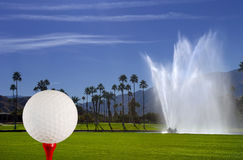 Golf Course Fountain Stock Photos