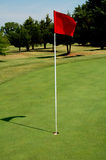Golf Course Green with Flag Royalty Free Stock Images