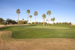 Golf Course Green In The Sun Stock Photos