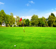 Golf Course Green Stock Photo