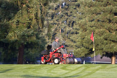 Golf Course Groundskeeper Stock Image