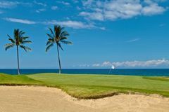 Golf course Hawaii Stock Image