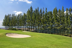 Golf course on hill Stock Photo