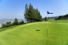 Golf course on hill Stock Photos