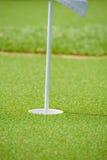 Golf course hole flag Stock Photography