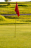 Golf course hole flag Stock Image