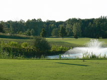 Free Golf Course Hole With Fountain Royalty Free Stock Image - 6582536