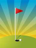 Golf course illustration Royalty Free Stock Image