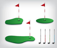 Golf course illustration Stock Photography