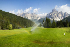 Free Golf Course In The Italian Dolomites Stock Images - 88856424