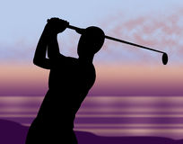 Golf Course Indicates Golf-Club Recreation And Golfer Stock Images