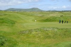Golf course in Ireland Royalty Free Stock Photos