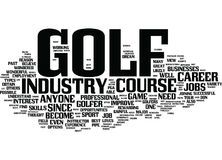Golf Course Jobs Provide Great Opportunities Word Cloud Concept. Golf Course Jobs Provide Great Opportunities Text Background Word Cloud Concept Royalty Free Stock Image