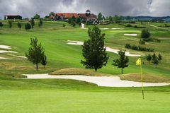The golf course in Karlstejn Royalty Free Stock Photo