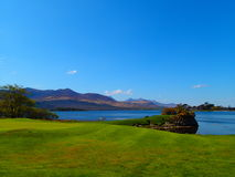 Golf course in Killarney. With Lough Leane Lake in behind royalty free stock photography